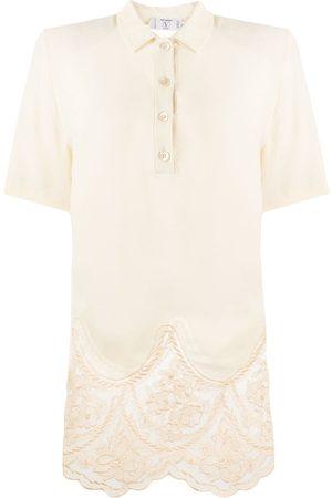 VALENTINO Women Polo Shirts - 1980s lace detail polo shirt