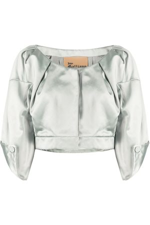 John Galliano 1990s three-quarter sleeves cropped top