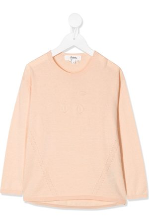 BONPOINT Logo embroidered long-sleeve top