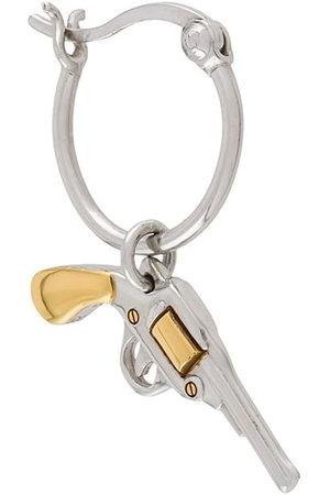 TRUE ROCKS Small pistol hoop earring