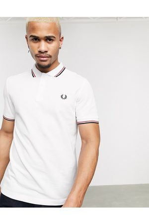 Fred Perry Twin tipped logo polo in /red/navy
