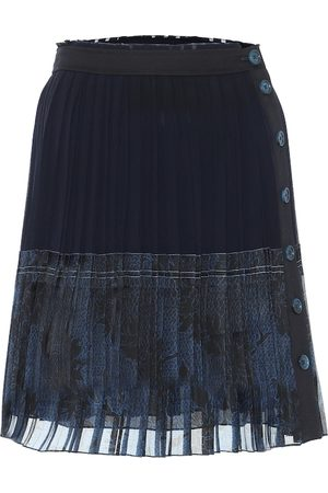 Chloé Pleated silk miniskirt