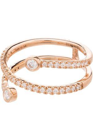 Dana Rebecca Designs 14K rose gold pavé diamond ring
