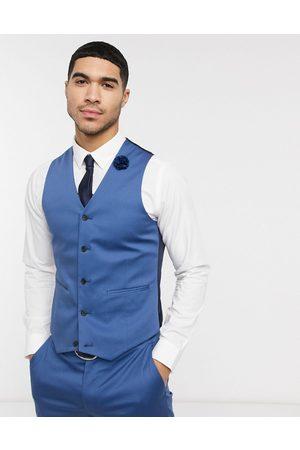 ASOS Wedding slim suit waistcoat in stretch cotton