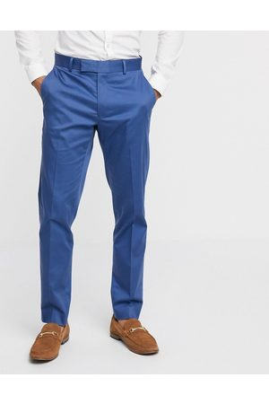 ASOS Wedding slim suit trousers in stretch cotton