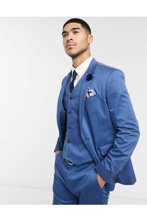 ASOS Wedding slim suit jacket in stretch cotton