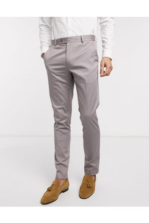 ASOS Wedding skinny suit trousers in stretch cotton