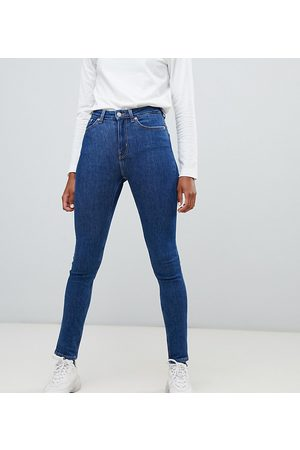 Weekday Thursday organic cotton high waist skinny jeans in win