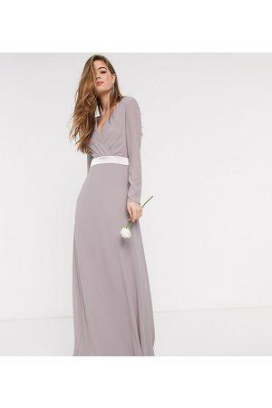 TFNC Women Maxi Dresses - Bridesmaids long sleeve bow back maxi dress dress in
