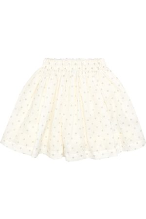 BONPOINT Dotted linen skirt