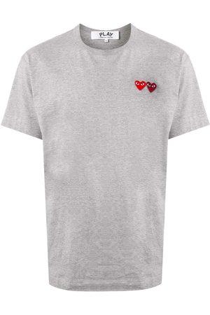 Comme des Garçons Double heart appliquéd T-shirt