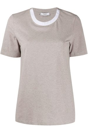 PESERICO SIGN Contrast collar T-shirt