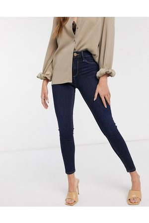 River Island Women Skinny - Molly mid rise skinny jeans in dark wash