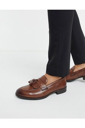 ASOS Loafers in leather with tassel and fringe detail