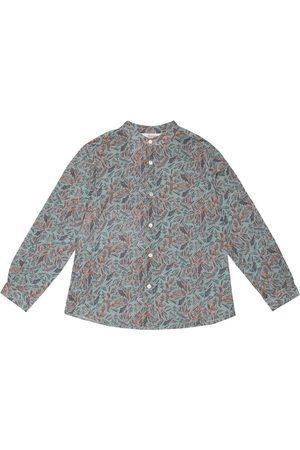 BONPOINT Girls Tops - Eugene printed cotton shirt