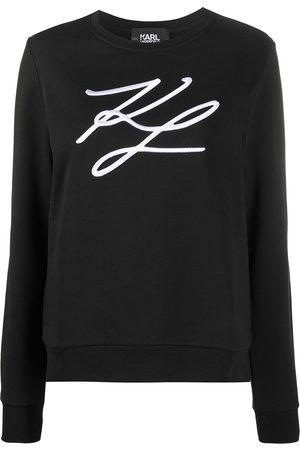 Karl Lagerfeld Signature embroidery cotton sweatshirt