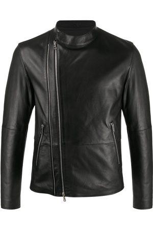 DESA 1972 Regular-fit zip-up biker jacket