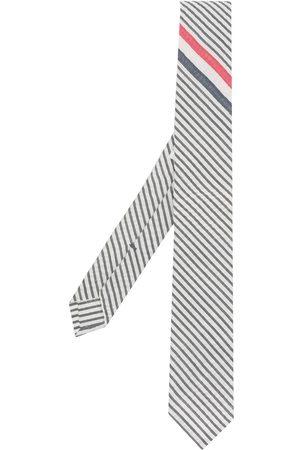 Thom Browne Men Bow Ties - Striped point tip tie