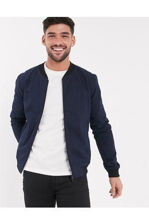 New Look Lightweight cotton bomber jacket in navy