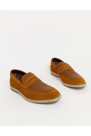 Base London Combie embossed loafers in suede