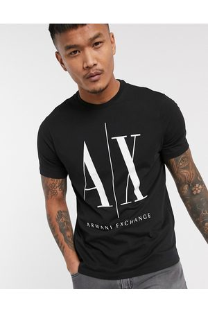 Armani Icon AX large logo t-shirt in
