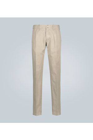 Incotex Slim-fit cotton and linen chinos