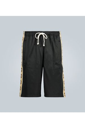 Gucci GG-trimmed relaxed-fit shorts