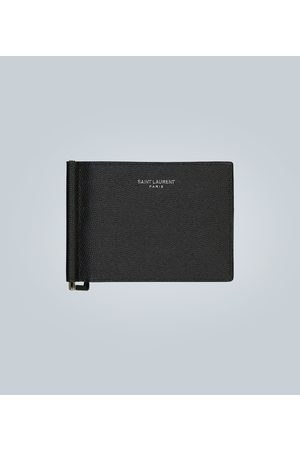 Saint Laurent Grain leather wallet with money clip