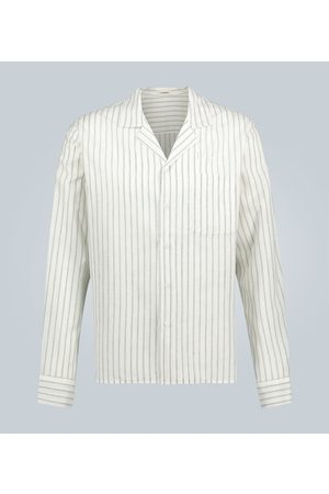 Commas Linen striped long-sleeved shirt