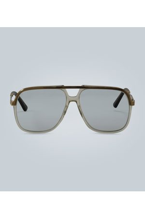 Gucci Sunglasses with rectangular metal frame