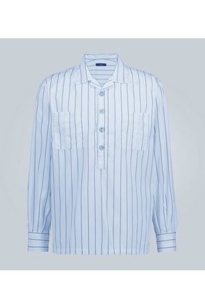 THE GIGI Striped half-placket shirt