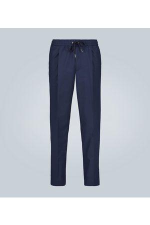 Moncler Pleated stretch-cotton pants