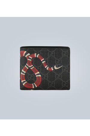Gucci Men Wallets - Kingsnake print GG Supreme wallet