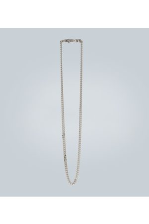 TOM WOOD Rhodium-plated chain necklace