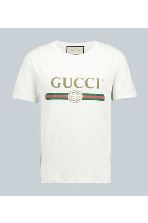 Gucci Oversized cotton T-shirt with logo