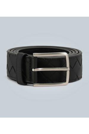 Bottega Veneta Women Belts - Leather belt with intreccio weave motif