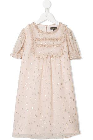 Velveteen Kayla dotted frill dress