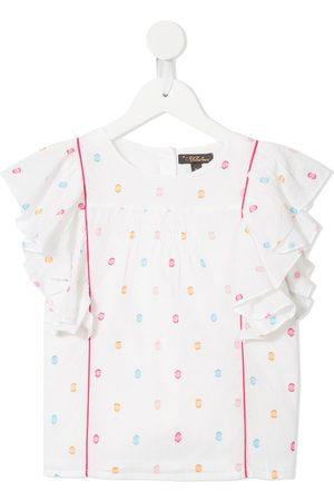 Velveteen Isadora frill sleeved T-shirt