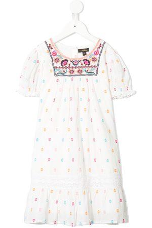 Velveteen Vanessa embroidered dress