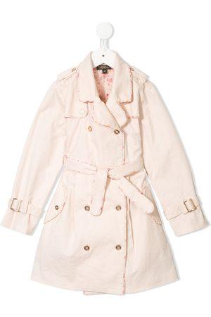 Velveteen Taylor pleated trench coat