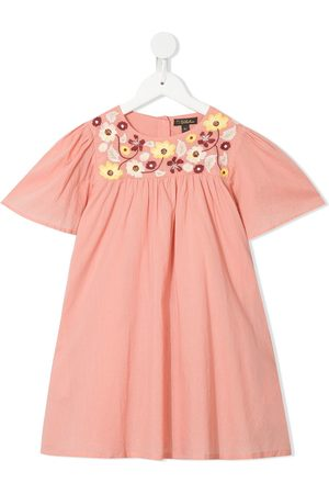 Velveteen Priya embroidered floral dress