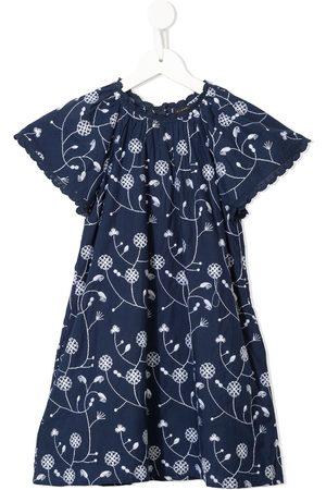 Velveteen Rosemary embroidered floral dress