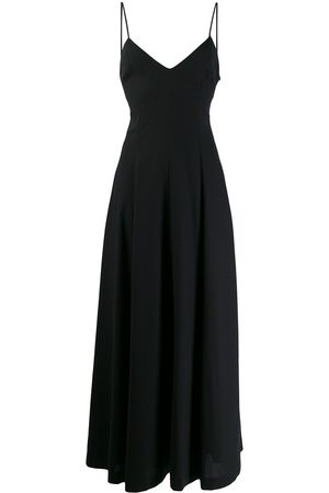 Ami Wide v-neck maxi dress