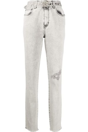 Just Cavalli Distressed belted jeans