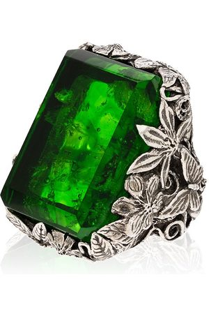 Lyly Erlandsson Sterling Orsay crystal ring