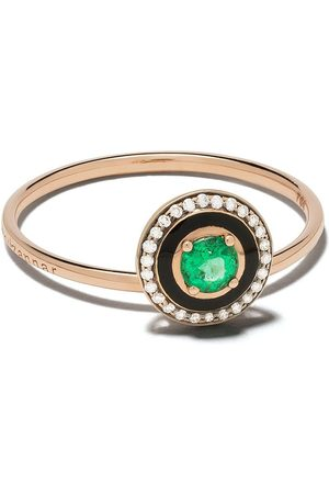 SELIM MOUZANNAR 18kt diamond emerald Mina ring