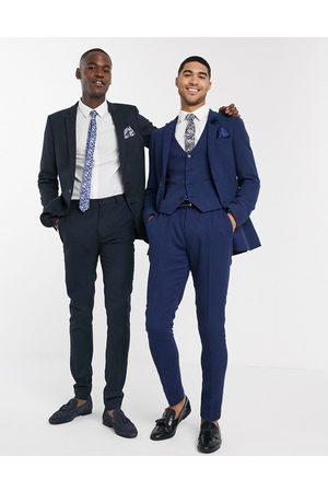 ASOS Men Formal Pants - Wedding super skinny suit trousers in wool blend micro houndstooth