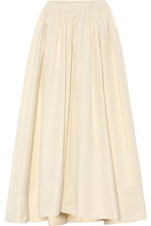 Jil Sander High-rise cotton-poplin maxi skirt