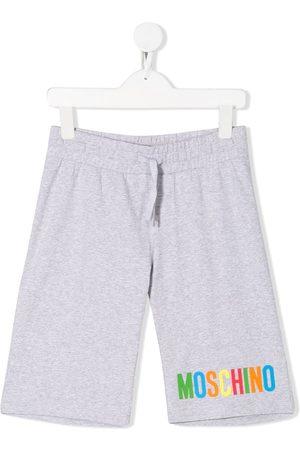 Moschino Logo printed track shorts