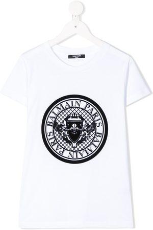 Balmain Crew-neck logo T-shirt